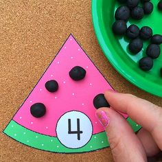 Watermelon Math Center For Preschool and Kindergarten For more information about the best Mobile App go to ticksandtots.com/