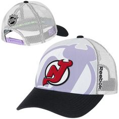 For Me Mens New Jersey Devils Reebok White Hockey Fights Cancer Draft Takedown Adjustable Hat