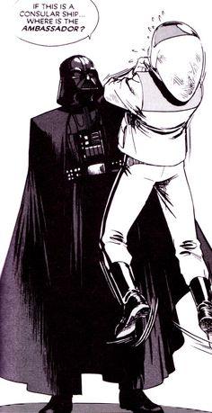 comicbookvault: Star Wars: A New Hope Manga Vol. 1 (July by Hisao Tamak - Star Wars Vader - Ideas of Star Wars Vader - comicbookvault: Star Wars: A New Hope Manga Vol. 1 (July by Hisao Tamaki vader had no chill. Dc Comics, Star Wars Comics, Star Wars Art, Star Trek, Anakin Vader, Darth Vader, Anakin Skywalker, Star Wars Characters, Star Wars Episodes