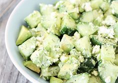 cucumber feta avocado salad