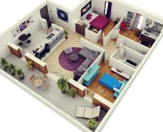 50 Three 3 Bedroom ApartmentHouse Plans Bedroom apartment