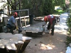 ZCI Woodworks: Cutting Logs for Live Edge Furniture - YouTube