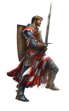 Paladin knight - Pathfinder PFRPG DND D&D d20 fantasy