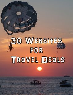 30 Websites for Travel Deals :   All the top travel deals and discounts from the top networks. Save big when all the top providers for flights, package vacations, all inclusive, hotels and resorts, rental cars and compete for your patronage.