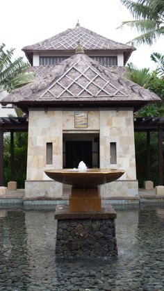 Jiwa Day Spa at the Conrad Bali Resort Bali Resort, Spa Day, Fountain, Gazebo, Outdoor Structures, Outdoor Decor, Home Decor, Homemade Home Decor, Kiosk
