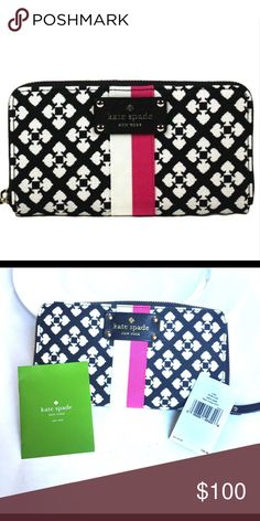 Kate Spade Wallet NWT NWT perfect condition the lighting was off on the three other pictures kate spade Bags Clutches & Wristlets