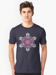 Metatron's Cube t-shirt design. sacred geometry symbol from the flower of life. A symbol of spirituality, psychic development, God and archangel Metatron.