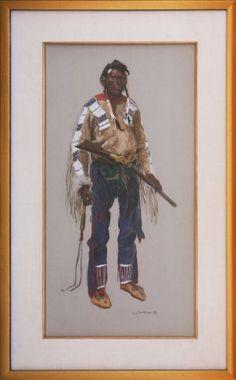 Amazon.com Art: Black Foot Warrior : Gouache : Ned Jacob