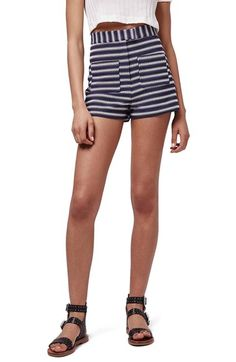 Topshop Zigzag Stripe Shorts available at #Nordstrom