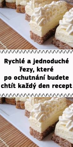 Czech Recipes, Macarons, Vanilla Cake, Gingerbread, Deserts, Food And Drink, Cooking Recipes, Sweets, Baking