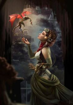 Read Steampunk from the story Fantasy Sub-Genre Guide by Fantasy with reads. Steampunk is actually a sub-genre of a sub. Fantasy Artwork, Fantasy Images, Magical Creatures, Fantasy Creatures, Fantasy Wesen, Steampunk Kunst, Steampunk Fairy, Steampunk Artwork, Steampunk Airship