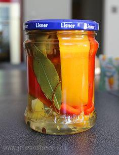 Papryka marynowana Składniki po 1 kg papryki czerwonej… na Stylowi.pl Mason Jars, Joker, Mason Jar, The Joker, Jokers, Comedians, Glass Jars, Jars