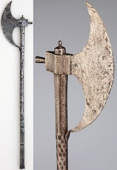 Ottoman berdiche (cresent shaped axe), 16th century, steel, length 36 1/4 in. ( 92.08 cm), bequest of George C. Stone, 1935, Metropolitan Museum of Art, New York.