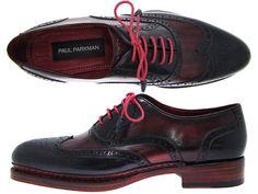 Paul Parkman Men's Triple Leather Sole Wingtip by PAULPARKMAN, $895.00