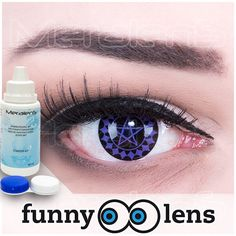 Kuroshitsuji Black Butler buttler contact lenses  Ciel Sharingan Manga Cosplay