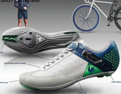 In this project, I wanted to explore what would be a bicycle shoe mixing lifestyle and technical codes.