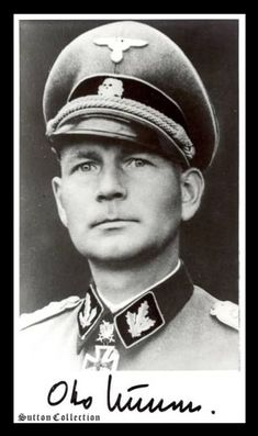 "Otto Kumm SS Brigadefuhrer Started his illustrious career with Das Reich, won KC in 1942. Later in 1943 he received oakleaves. Later he transfered to Yugoslavia to command Prinz Eugen 7th SS Mountain division. Under his leadership it became the ""firebrigade"" of the Balkan Front. He won the Swords in 1945. In March of 1945, he took over command of LSSAH in Hungary, to block the Soviet onslaught. last, I heard is that he is well over 100 years old!"