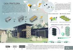 Resultados do concurso estudantil  de arquitetura bioclimática da IX Bienal José Miguel Aroztegui / Abrigos de Emergência,Primeiro Lugar - Prancha 1. Image Cortesia de  IX Bienal José Miguel Aroztegui