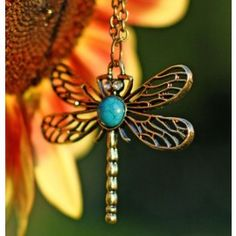 We have a brand new website! Dragonfly Necklace