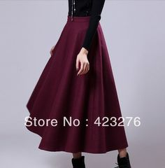 Awesome trend of long wool circle skirts, China