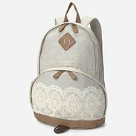 vintage lace backpack