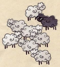 black sheep, except can the black sheep be aqua or rainbow, or anything more fabulous than black?