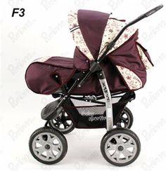 Carucior  Copii KAMIL- Multifunctional (0-3 ani) - Visiniu/Flori Baby Strollers, Children, Bebe, Toddlers, Baby Prams, Boys, Kids, Prams, Children's Comics