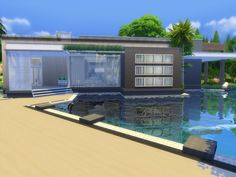 Modern Zirus house by Suzz86 at TSR via Sims 4 Updates
