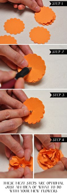 Easy DIY Paper Flowers Stampin' Up Punch Art