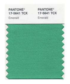 Pantone chose Emerald as their color of the year for but plenty of celebrities have already added the color to their wardrobes. See 10 stars who wore emerald recently. Pantone Tcx, Pantone Color, Color Of Life, Color Of The Year, Aqua, Turquoise, Pantone Verde, Color Trends, Design Trends