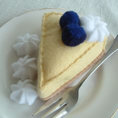Hey, I found this really awesome Etsy listing at http://www.etsy.com/listing/55617985/fun-felt-food-blueberry-cheesecake-made
