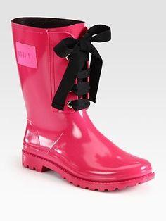 Valentino Lace-Up Rainboots