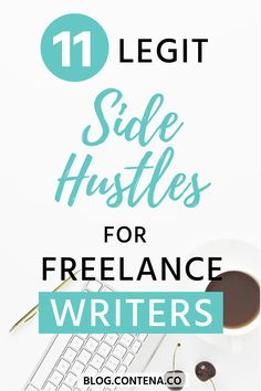 If you're making money as a freelance writer, you might also want a side-hustle. Here are 11 legit jobs and side hustles for freelancers. The best jobs to make you money where you can from home or work remotely. Writing Resources, Writing A Book, Writing Tips, Fiction Writing, Blog Writing, Writing Services, Job Freelance, Freelance Writing Jobs, Design Thinking