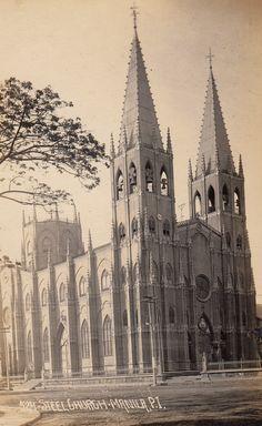 San Sebastian Church, Manila Filipino Architecture, Philippine Architecture, Philippines Culture, Manila Philippines, Philippine Holidays, Intramuros, Filipino Culture, Walled City, Cathedral Church
