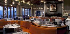 Pierre Cronje designed custom furniture including this orange banquette for Delaire Graff.