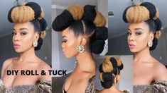 Photo Credit: Tupo1Video Tutorial 4c Natural Hair, Natural Hair Styles, Easy Rolls, Natural Hair Tutorials, Protective Styles, Updos, Crochet Earrings, Photo Credit, Hair Ideas