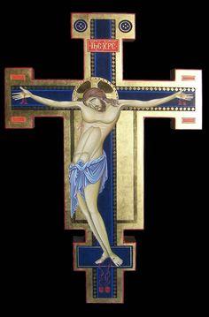 Icone per mano di Antonella Pinciroli Crucifixion Of Jesus, Jesus Christ, Religious Icons, Religious Art, Roman Church, Religion, Byzantine Icons, Holy Cross, Orthodox Icons