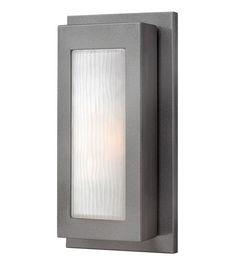 Hinkley 2050HE Titan 1 Light 14 inch Hematite Outdoor Wall Lantern in Incandescent #LightingNewYork