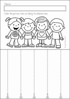 Preschool, Kindergarten, Back to School No Prep Worksheets and Activities. A page from the unit: cutting practice.