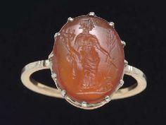 A ROMAN CARNELIAN RING STONE CIRCA 2ND CENTURY A.D.