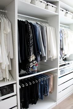 "Huge ""walk-in closet"" tour – be the designer of your life Walk In Closet Design, Bedroom Closet Design, Master Bedroom Closet, Closet Designs, Bedroom Decor, Ikea Closet, Closet Tour, Pax Closet, Closet Space"