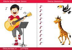 Interactieve liedlijst met heel veel liedjes rond het thema dierentuin voor kleuters, by juf Petra van kleuteridee