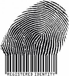 Illustration de stock de Registered Identity Fingerprint Becoming Barcode Raster 1257248 Barcode Art, Barcode Design, Graphic Design, Logo Design, Identity Theft Protection, Poesia Visual, Barcode Labels, Identity Art, Cyberpunk