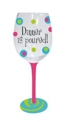 Handpainted Wine Glass Dinner Is Poured Wine Glass   eBay