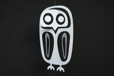 Paper Owl Mobile - MollyMoo - crafts for kids and their parents