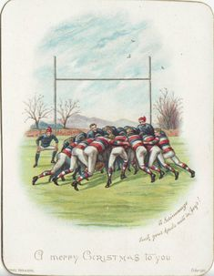Rugby : a (small) tribute to the pioneers - Rugby History - Rugby Memorabilia Rugby Poster, Womens Rugby, Irish Rugby, Rugby Sport, Rugby League, College Posters, Xmas, Christmas, Cycling