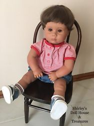 """Vintage 1988 Pat Secrist Baby Boy Doll 22"""" CLEAN for Reborn or play"""