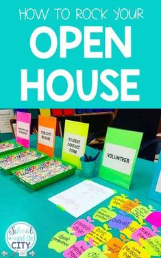 How to Rock Your Open House Tips for Open House (Meet the Teacher) - Kindergarten Lesson Plans Kindergarten Orientation, Kindergarten Lesson Plans, Kindergarten Teachers, Elementary Teacher, Elementary Schools, Kindergarten Open House Ideas, Parent Orientation, Beginning Of Kindergarten, Elementary Counseling