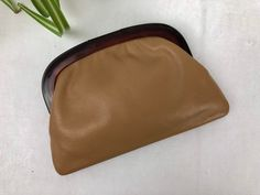Vintage Tan Leather Clutch Tortoise Lucite Italy Leather Clutch, Tan Leather, Vintage Purses, Tortoise, Sunglasses Case, Italy, Trending Outfits, Unique Jewelry, Handmade Gifts