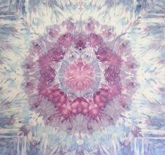 "Mandala tapestry tie dye wall hanging in blue and purple.""Quantum Mind"" Handmade.  #trippy #trippyart #psychedelic #psychedelicart #hippieshop #handmade #cosmic #mandala #boho #bohochic #etsygifts #etsyshop #etsy SOLD"